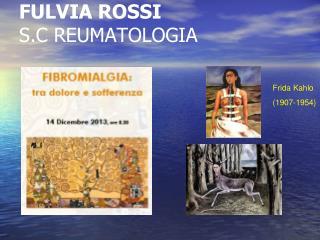 FULVIA ROSSI S.C REUMATOLOGIA
