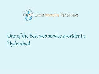The Best Web Service Providers in Hyderabad