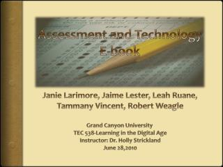Assessment and Technology E-book