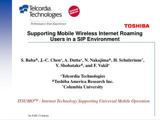 Supporting Mobile Wireless Internet Roaming Users in a SIP Environment