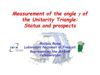 Measurement of the angle  g  of the Unitarity Triangle: Status and prospects