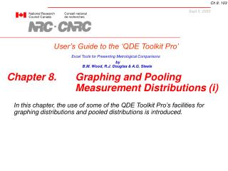 User's Guide to the 'QDE Toolkit Pro'