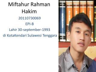 Miftahur Rahman  Hakim