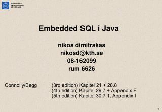 Embedded SQL i Java