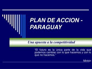 PLAN DE ACCION - PARAGUAY