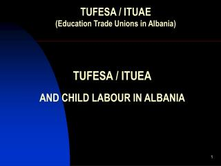 TUFESA / ITUEA AND CHILD LABOUR IN ALBANIA