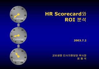 HR Scorecard ? ROI  ??