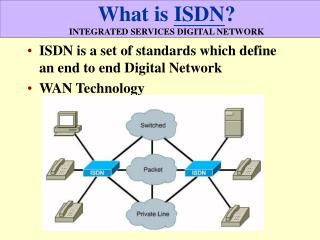 What is  ISDN ? INTEGRATED SERVICES DIGITAL NETWORK