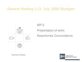 General Meeting 1./2. July 2008 Stuttgart