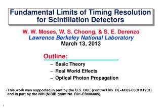 Fundamental Limits of Timing Resolution for Scintillation Detectors