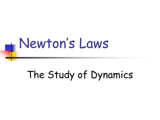 Newton�s Laws