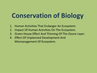 Human Activities That Endanger An Ecosystem. Impact Of Human Activities On The Ecosystem.