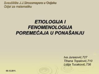 Sveučilište J.J.Strossmayera u Osijeku Odjel za matematiku