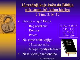 12  tvrdnji koje kažu da Biblija nije samo još jedna knjiga 2 Tim. 3:16-17