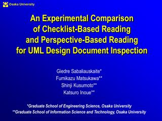 An Experimental Comparison of Checklist-Based Reading and Perspective-Based Reading for UML Design Document Inspection