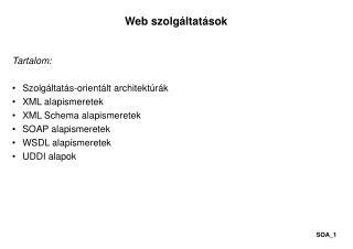Web szolgáltatások