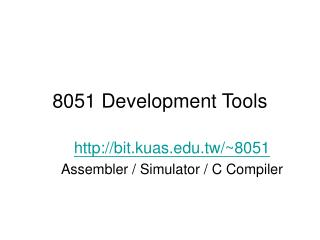 8051 Development Tools