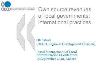 Own source revenues of local governments: international practices