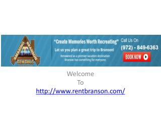 Branson Vacation Rentals On The Lake