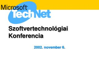 Szoftvertechnol�giai Konferencia