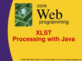 XLST  Processing with Java