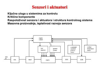 Senzori i aktuatori