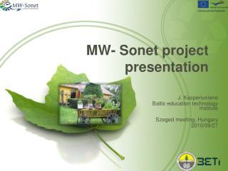 MW-  Sonet project presentation