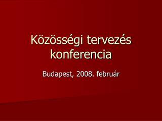 Közösségi tervezés konferencia