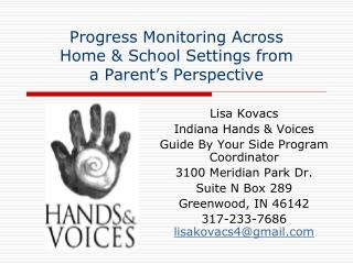 Progress Monitoring Across Home & School Settings from a Parent's Perspective