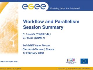 Workflow and Parallelism Session Summary