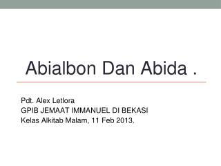 Abialbon Dan Abida .