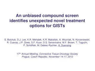 GISTs and chemotherapy