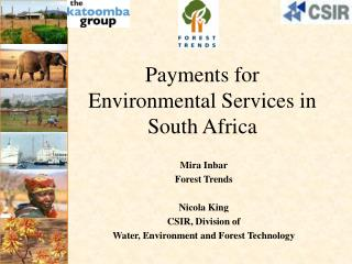 Payments for  Environmental Services in  South Africa