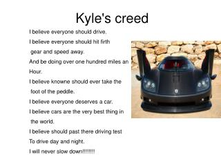 Kyle's creed