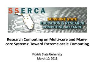 Research Computing on Multi-core and Many-core Systems: Toward Extreme-scale Computing