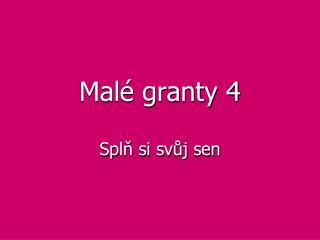 Malé granty 4