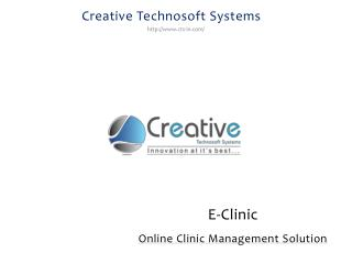 Online Clinic Management Solution