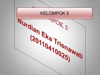 KELOMPOK 5 Nurdian Eka Trisnawati (20110410025 )