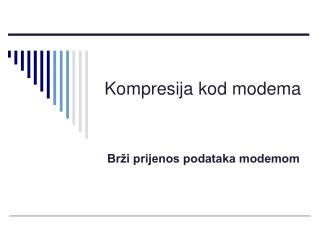 Kompresija kod modema