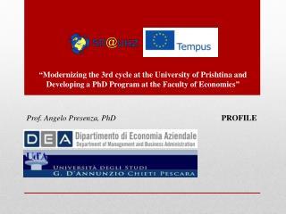 Prof. Angelo Presenza,  PhD