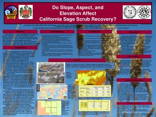 Do Slope, Aspect, and  Elevation Affect California Sage Scrub Recovery?