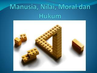 Manusia ,  Nilai , Moral  dan Hukum