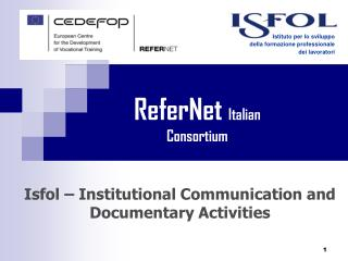 Isfol – Institutional Communication and Documentary Activities