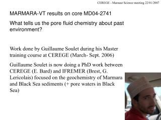 MARMARA-VT results on core MD04-2741
