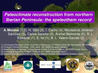 Paleoclimate reconstruction from northern Iberian Peninsula: the speleothem record