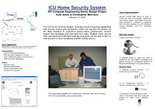 Sensors Used  4 Magnetic Contact Sensors – to monitor doors and windows