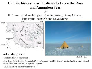 Climate history near the divide between the Ross and Amundsen Seas by