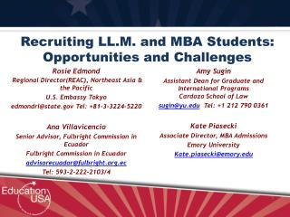 Recruiting LL.M. and MBA Students: Opportunities and Challenges