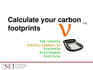 Calculate your carbon footprints