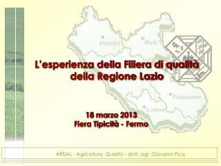 L'esperienza della Filiera di qualità della Regione Lazio